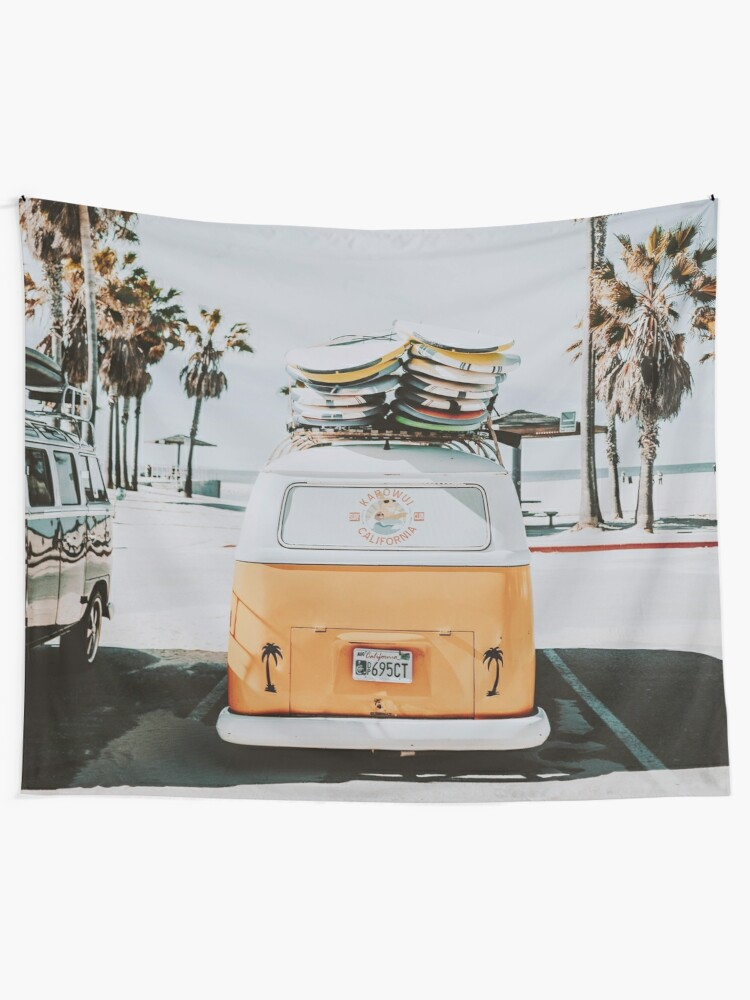 Alternate view of Let's Surf Wall Tapestry