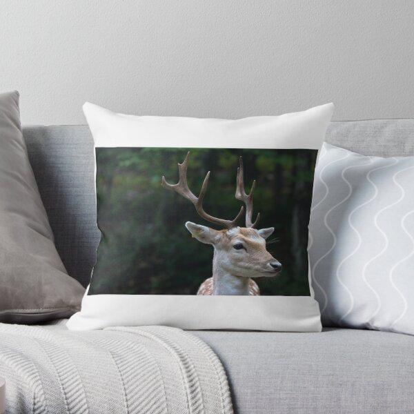 Male Fallow deer Throw Pillow