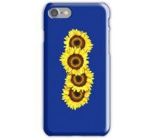 Iphone Case Sunflowers - Dark Blue iPhone Case/Skin