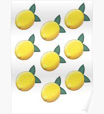 lemon boy pattern Poster