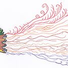 Tropical Feathered Flourish. by Naean Howlett-Foster