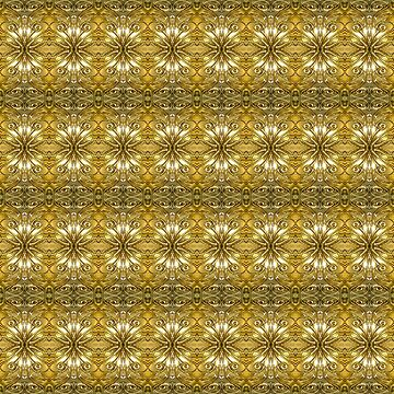 Golden Ornate Pattern by DFLCreative