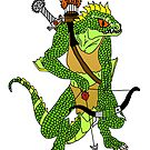 Fantasy Lizard Warrior by imphavok