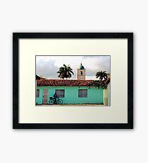 Cuban provincial town Framed Print