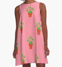 pink venus fly trap A-Line Dress