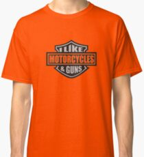 Motorcycles and Guns Classic T-Shirt