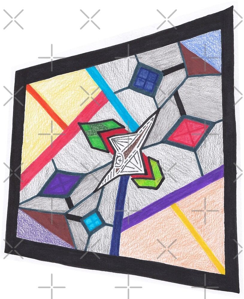 Glass Stained Abstract Pane. by Naean Howlett-Foster
