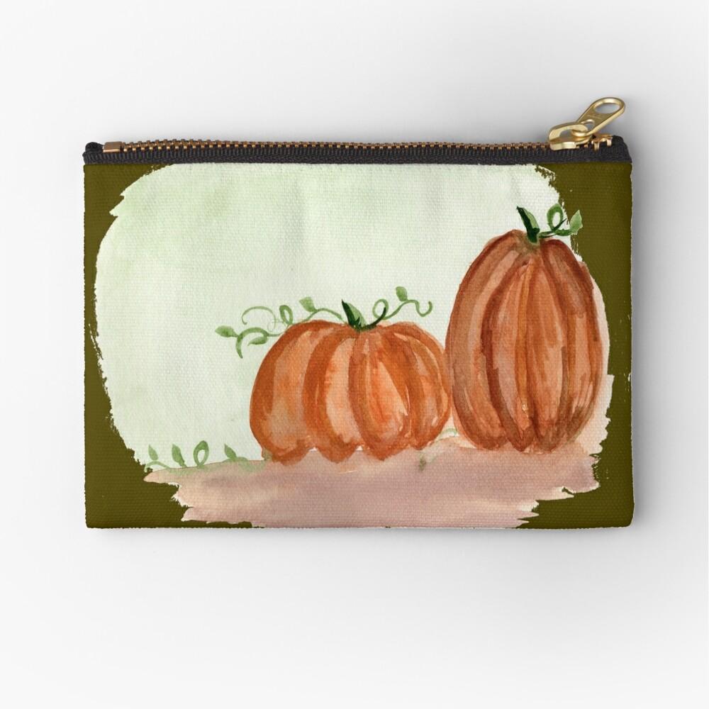 Fall Pumpkins Zipper Pouch