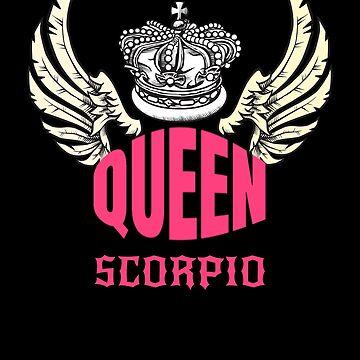 Queen Scorpio Wings Zodiac Signs by gcruz1028
