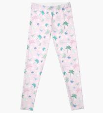 Tropical Shell Pink Leggings