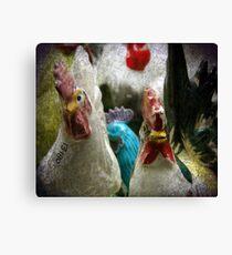 Antique Chickens Canvas Print