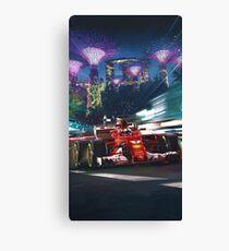 Lienzo Cartel de Gran Premio de Fórmula 1 de Singapur