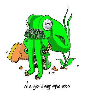 Wild Green Hairy Lipped Squid #2 by MALC-OLM