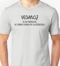 Veganoj, ni ne frenezas, ni simple venas de la estonteco - Vegans, we're not crazy, we simple come from the future Unisex T-Shirt