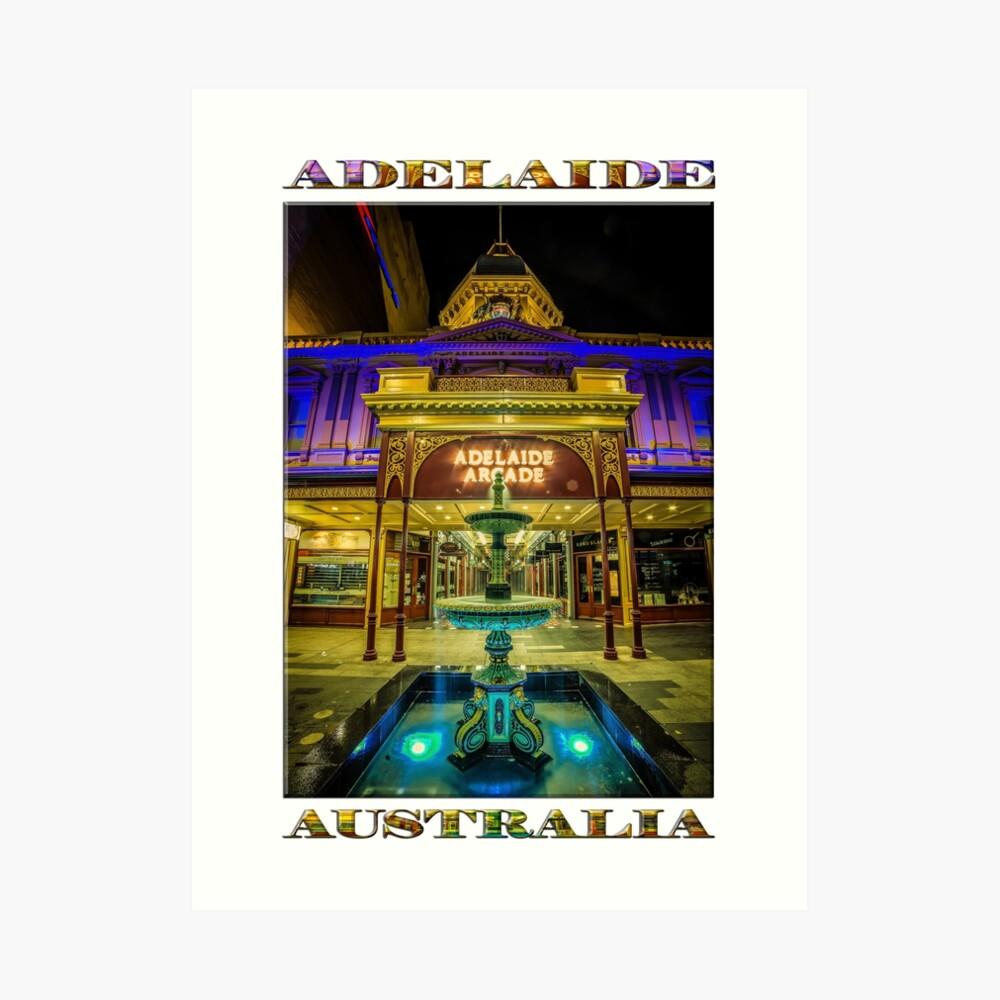 Adelaide Arcade Facade (poster edition) Art Print