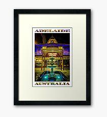Adelaide Arcade Facade (poster edition) Framed Print