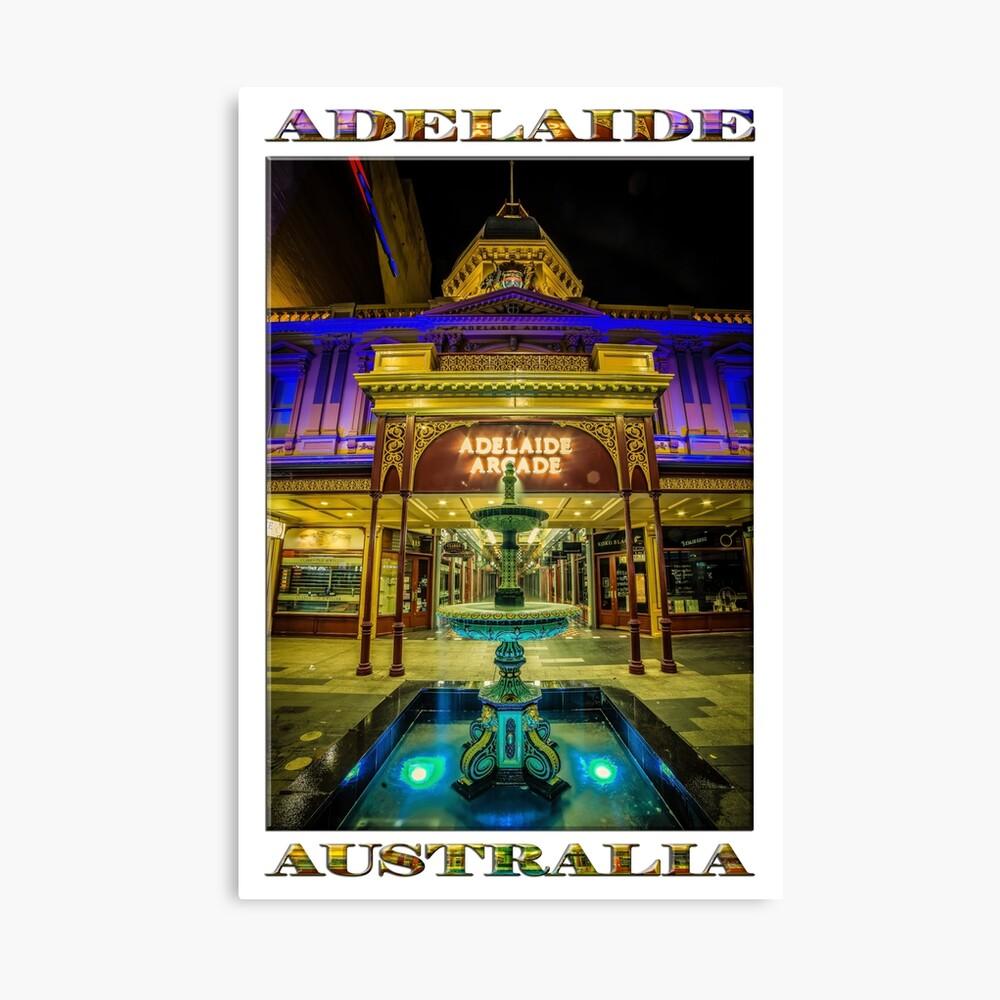 Adelaide Arcade Facade (poster edition) Canvas Print