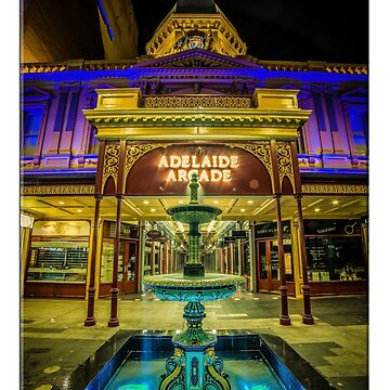 Adelaide Arcade Facade (poster edition) by RayW