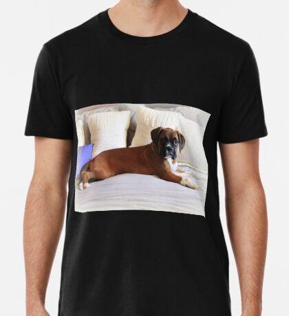 Nicht mein Bett ... sagst du? - Boxer Dogs Series Premium T-Shirt
