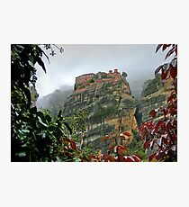 Meteora Monastery World Heritage Site Photographic Print