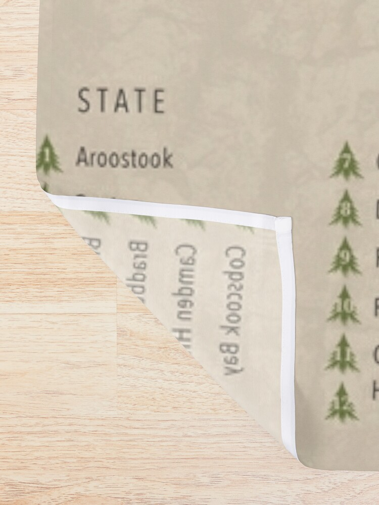 Alternate view of Maine Parks Shower Curtain