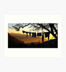 Underpant sunset, Spain Art Print