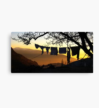 Underpant sunset, Spain Canvas Print