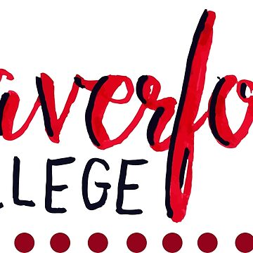 hand lettered Haverford College by sarahekj