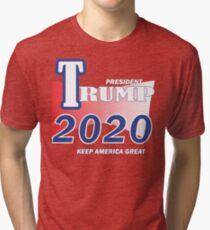 Trump 2020 Shirt Keep America Great T-Shirt Reelect President Donald Trump Tri-blend T-Shirt