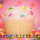 Happy Birthday card, cupcake card, cupcake, birthday cupcake, happy bday, happy birthday by bwatkinsphoto