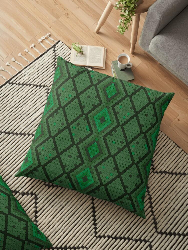 Cojines Animal Print.Cojin De Suelo Patron De Impresion De Serpiente Verde Decorativo Animal Print De Anfeloga