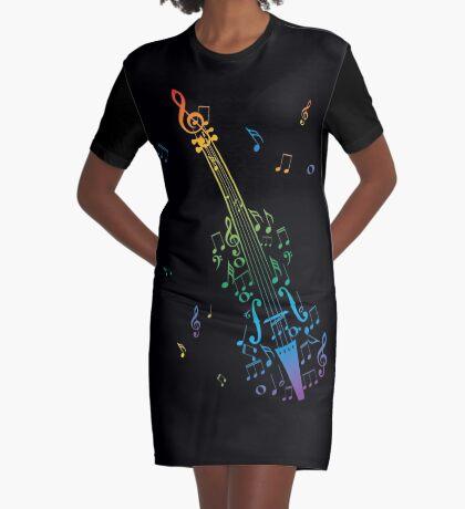 Violine mit Noten 3 T-Shirt Kleid