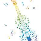Violine mit Noten 3 von AnnArtshock