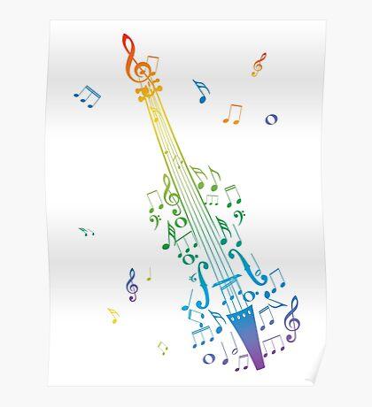 Violine mit Noten 3 Poster