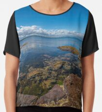Beaumaris Bay Rocky Shore Chiffon Top