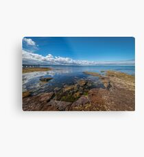 Beaumaris Bay Rocky Shore Metal Print