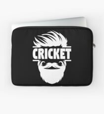 Cricket Batsman - Cricket Picture - Cricket Ball - Father Cricket Gift - Cricket Teacher - Cricket Print - Cricket Dad Gift - Cricket Poster Laptop Sleeve
