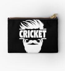 Cricket Batsman - Cricket Picture - Cricket Ball - Father Cricket Gift - Cricket Teacher - Cricket Print - Cricket Dad Gift - Cricket Poster Studio Pouch