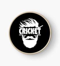 Cricket Batsman - Cricket Picture - Cricket Ball - Father Cricket Gift - Cricket Teacher - Cricket Print - Cricket Dad Gift - Cricket Poster Clock