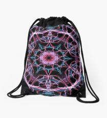 Pink & Blu Burst Drawstring Bag