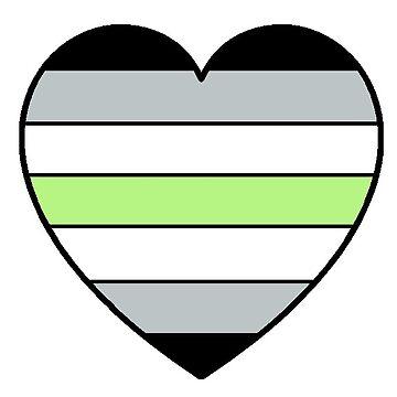 Agender pride heart by MistyFigs