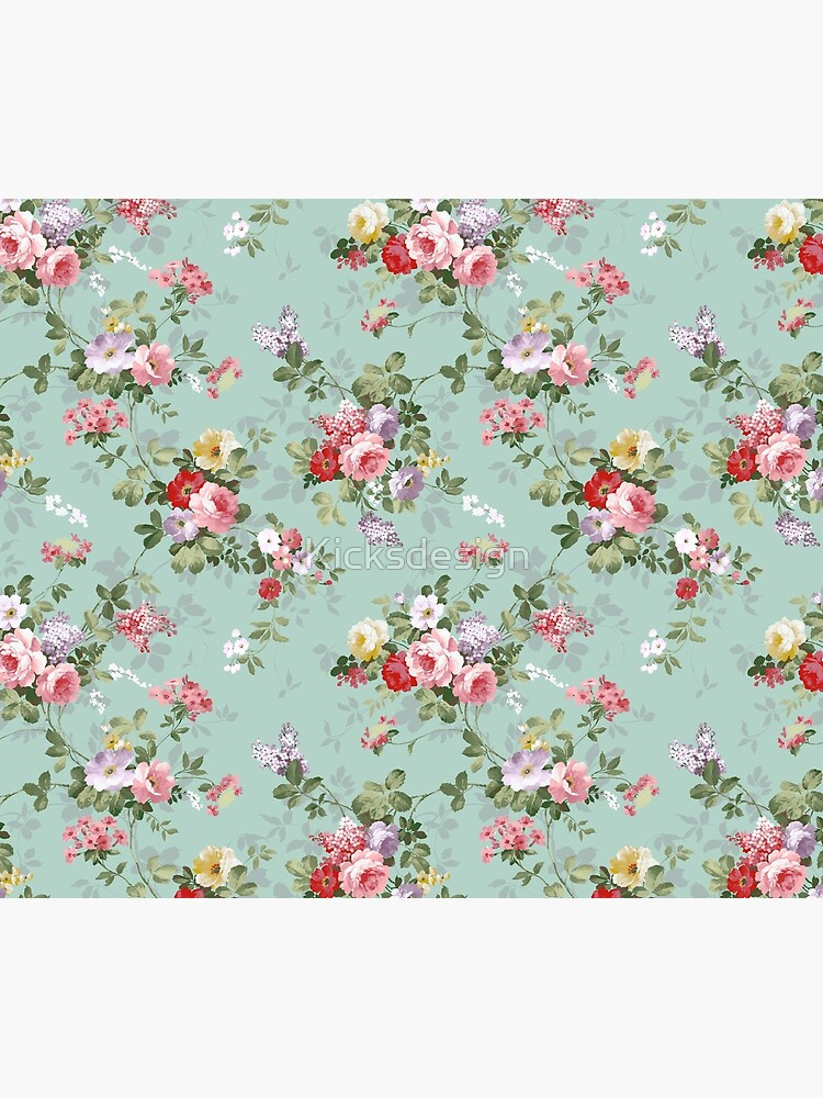 Elegant vintage pink roses floral pattern  by Kicksdesign