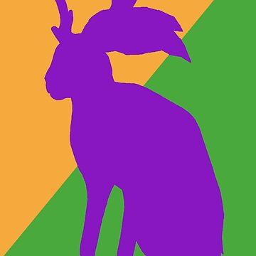jackalope by redqueenself