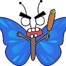 angry zombie butterfly by shortstack