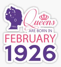 It's My Birthday 92. Made In February 1926. 1926 Gift Ideas. Sticker