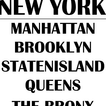 Boroughs of New York City by beloknet