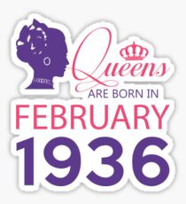 It's My Birthday 82. Made In February 1936. 1936 Gift Ideas. Sticker