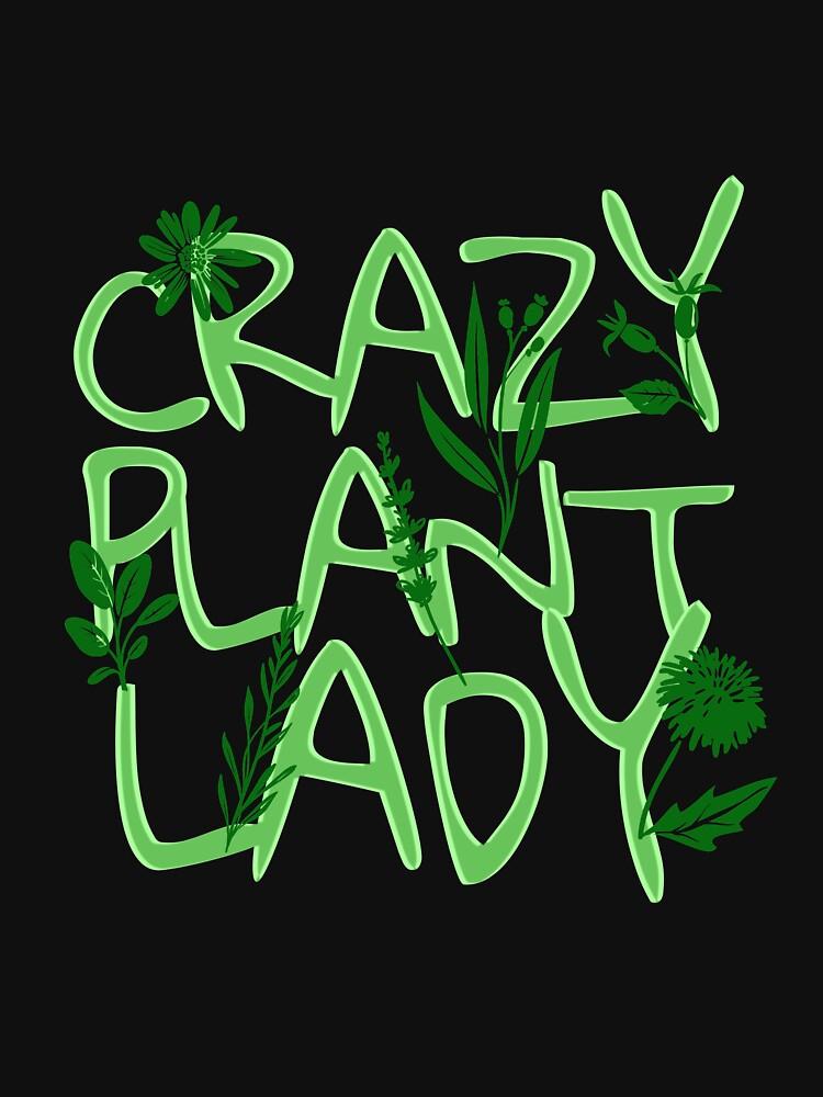 'Crazy Plant Lady' Hilarous Gardening Gift by leyogi