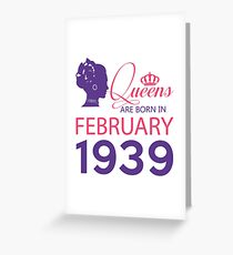 It's My Birthday 79. Made In February 1939. 1939 Gift Ideas. Greeting Card