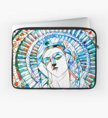 Glass stain mosaic 9 - Virgin Mary, by Brian Vegas Laptop Sleeve